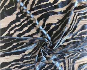 "Zebra Stretch Velvet Burnout 60"" Wide 