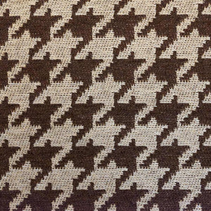 "Chocolate Houndstooth Chenille 54"" Wide 