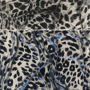 "Leopard Stretch Velvet Burnout 60"" Wide 