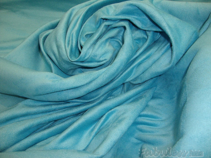 Suede Aqua Micro Suede upholstery fabric per yard 58