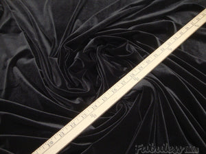 "Black 4-WAY Spandex Stretch Velvet 60"" Wide 