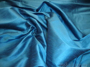 15 yards Horizon Blue Shantung Dupioni Faux Silk