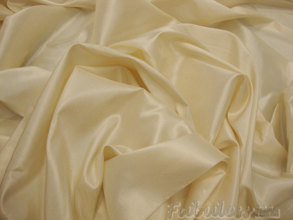 "Vanilla Iridescent Polyester Taffeta 60"" Wide 