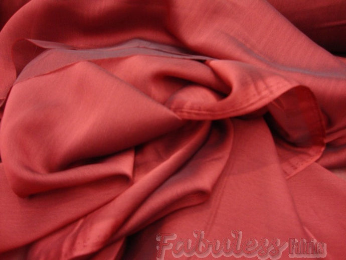 Burgundy Iridescent Chiffon fabric per yard