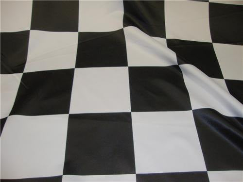"Checkered Flag 5.5"" Dull Bridal Satin Polyester 60"" Wide 
