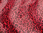 "Load image into Gallery viewer, Red Cheetah Velboa Faux Fur 60"" Wide 