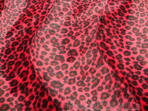 "Red Cheetah Velboa Faux Fur 60"" Wide 