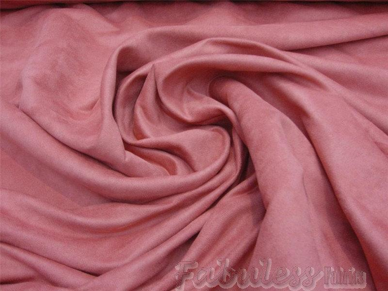 "Dusty Rose Micro Faux Suede 60"" Wide 