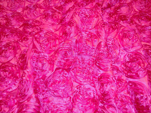 Hot Pink Rosette Satin Fabric Backdrop for Maternity, Newborn or Baby Photograph