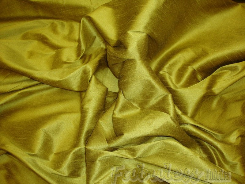 "Olive Oil Shantung Dupioni Faux Silk 54"" Wide 