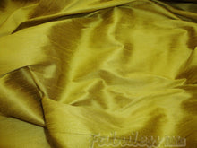 Load image into Gallery viewer, Olive Oil  Shantung Dupioni Faux Silk fabric per yard