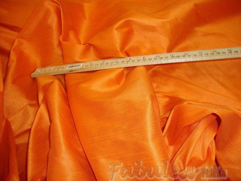 "Apricot Shantung Dupioni Faux Silk 54"" Wide 