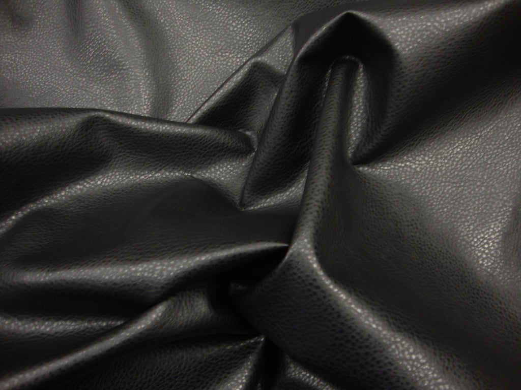 black-ford-faux-leather-vinyl-54-wide-upholstery-fabric-by-the-yard