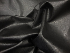 "Black Ford Faux Leather Vinyl 54"" Wide 