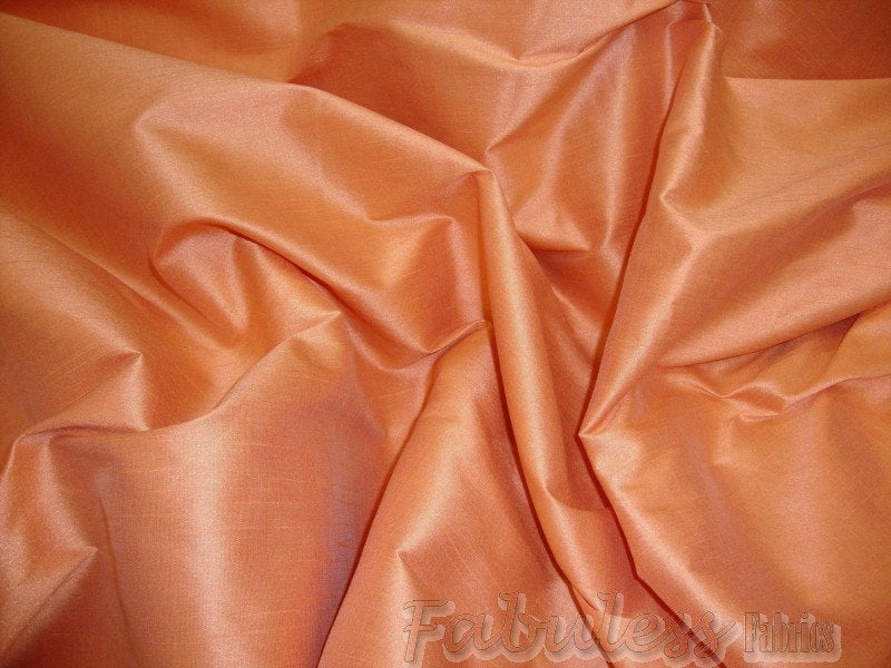 "Cantaloupe Shantung Dupioni Faux Silk 54"" Wide 
