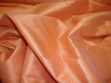 Load image into Gallery viewer, Cantaloupe  Shantung Dupioni Faux Silk fabric per yard