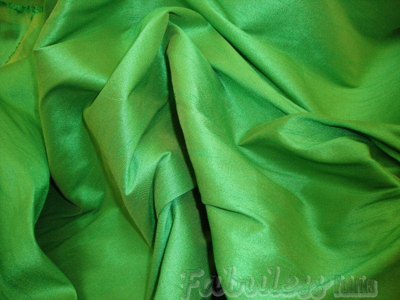 "Carden Green Shantung Dupioni Faux Silk 54"" Wide 