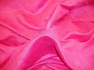 "58"" WIde Fuschia  Polyester micro faux suede upholstery fabric by the yard"
