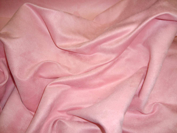 10 yards Pink  Suede upholstery fabric 60