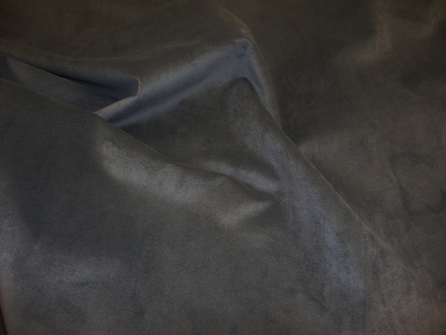 "Smoke Micro Plush Velvet Mesh Back 55""/56"" Wide 