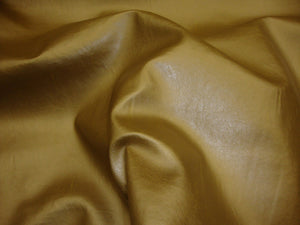 "Gold Metallic Marine Faux Vinyl Leather 54"" Wide 