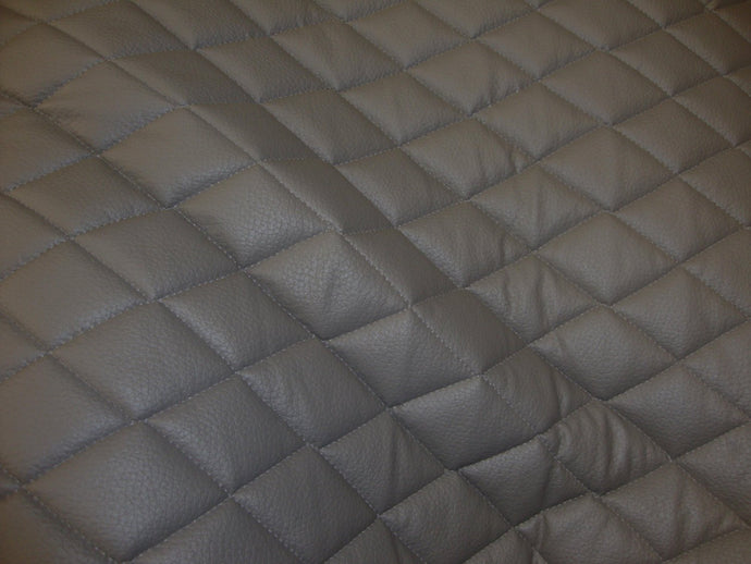 Grey Quilted Vinyl fabric with 3/8
