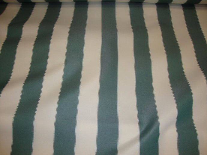 Outdoor Hunter Green Ivory Striped Waterproof  Canvas fabric 60