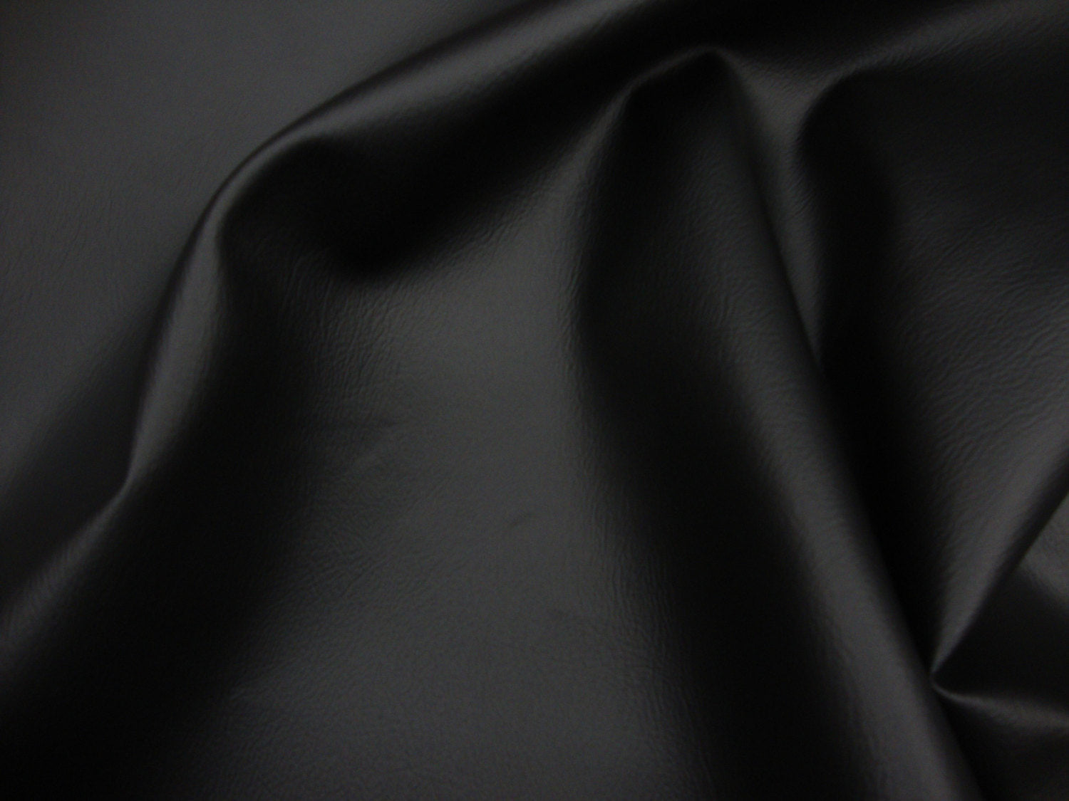 "Black 2-WAY Stretch Faux Leather Vinyl 55"" Wide 
