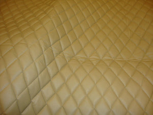 "Camel Diamond Quilted Faux Leather Vinyl 3/8"" Foam Backing 54"" Wide 