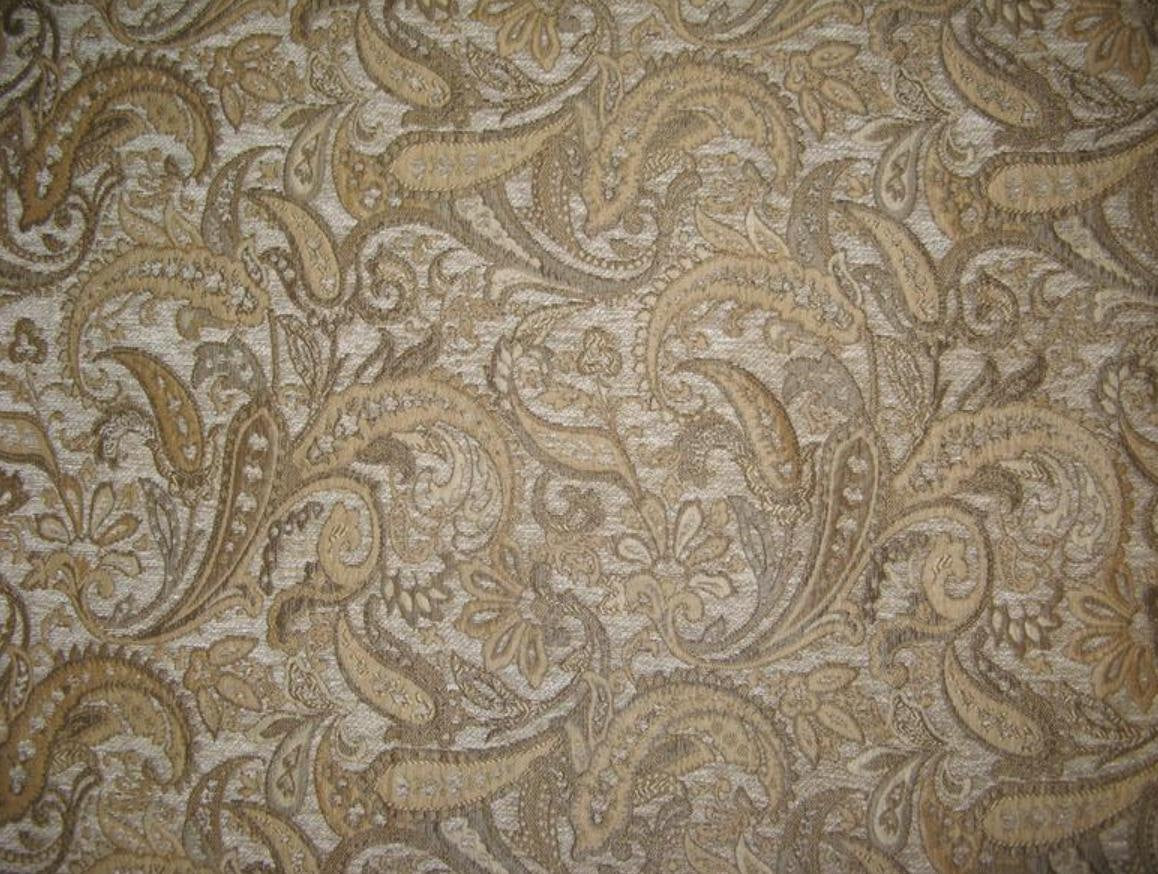 "Tan Paisley Chenille 57"" Wide 