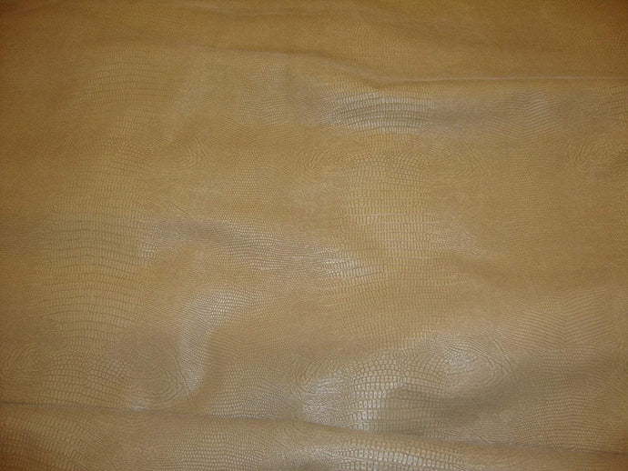 Suede Alligator Disressed upholstery Faux Leather Vinyl fabric per yard 54