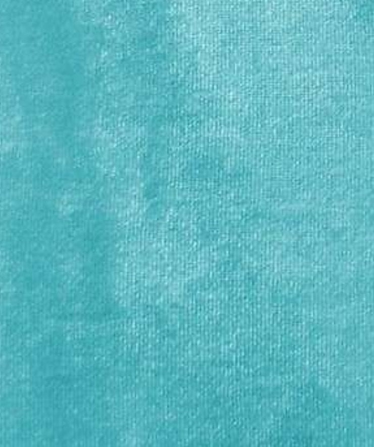 "Turquoise 4-WAY Spandex Stretch Velvet 60"" Wide 