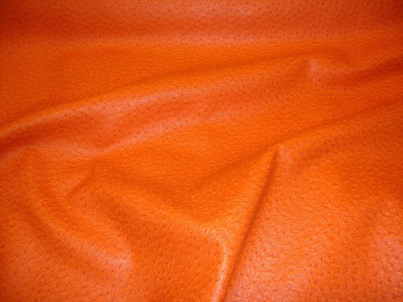 "Set of 2 Orange Ostrich Faux Vinyl 18"" x18"" Pillow Covers 