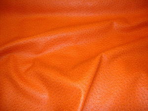 2 Pieces Orange Ostrich faux vinyl cushion pillow 18x18 with zipper fur pillows sofa bed couch chair throw home decor