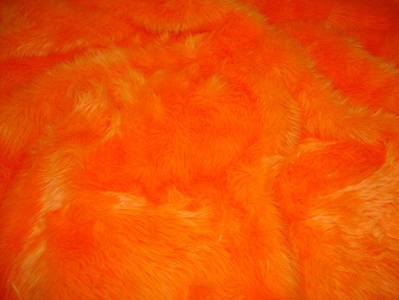Orange Shaggy Plush Faux Fur Rectangular 2'x4' Area Rug || Home Decor