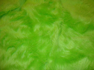 Lime Shaggy Plush Faux Fur Rectangular 3'x5' Area Rug || Home Decor