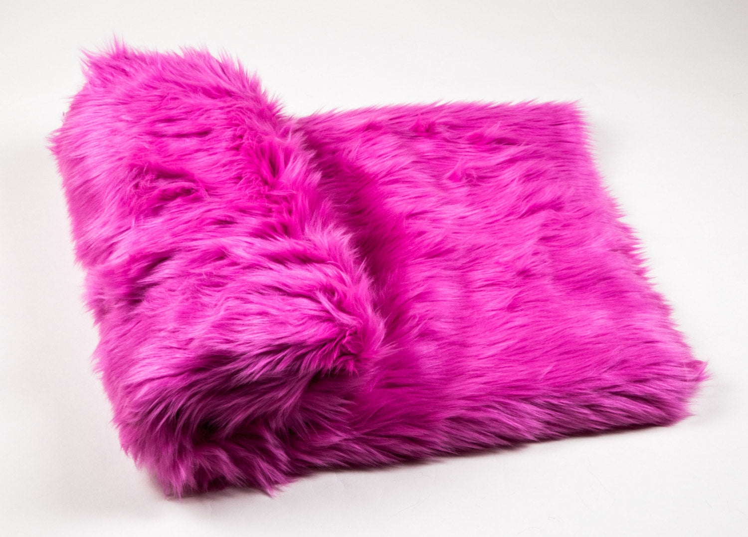 "Fuchsia Shaggy Faux Fur Suede Back 108""x60"" Throw Blanket 