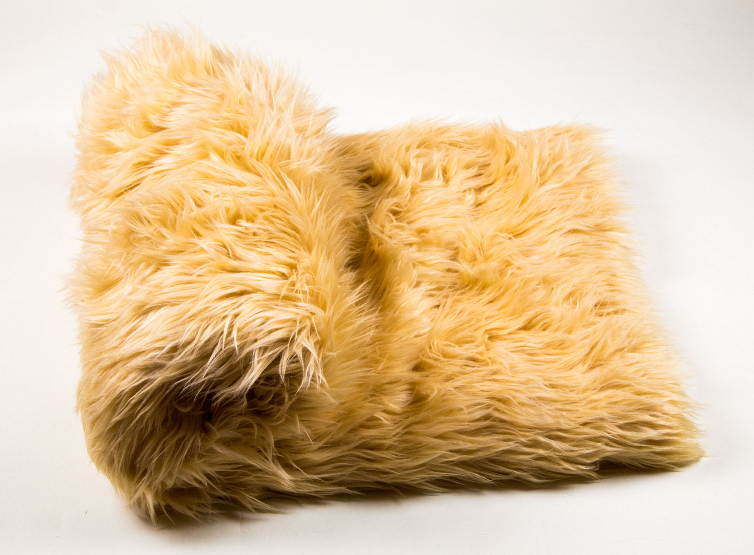 "Camel Shaggy Faux Fur Suede Back 108""x60"" Throw Blanket 
