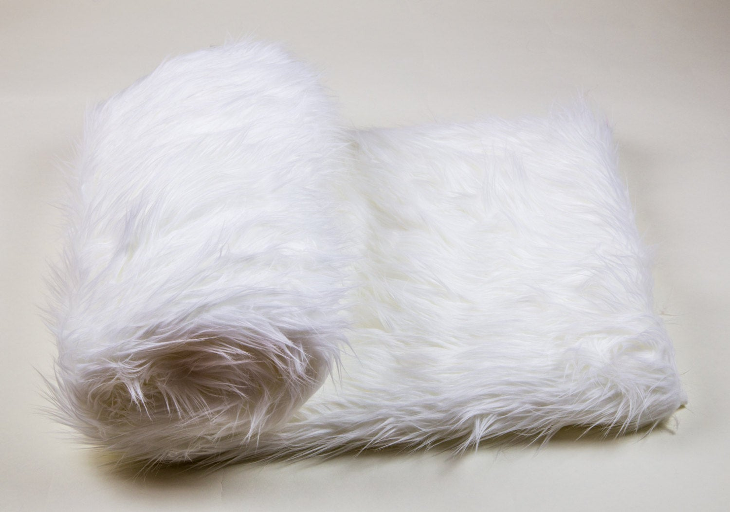 "White Shaggy Faux Fur Suede Back 110""x120"" Throw Blanket 
