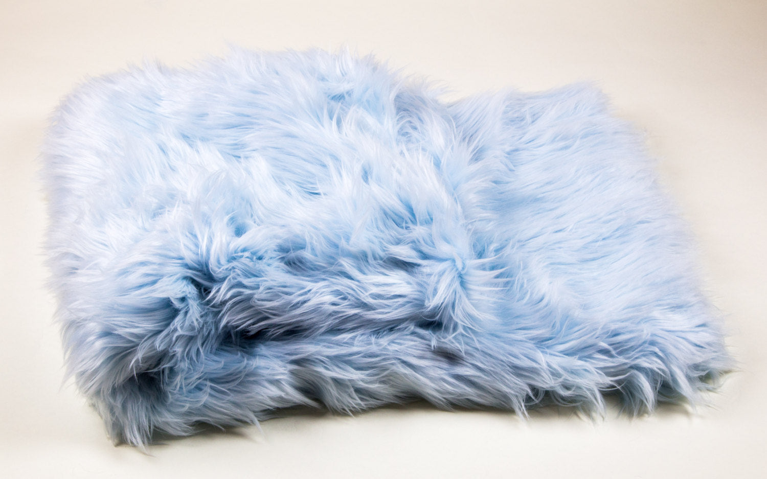 "Baby Blue Shaggy Faux Fur Suede Back 108""x60"" Throw Blanket 