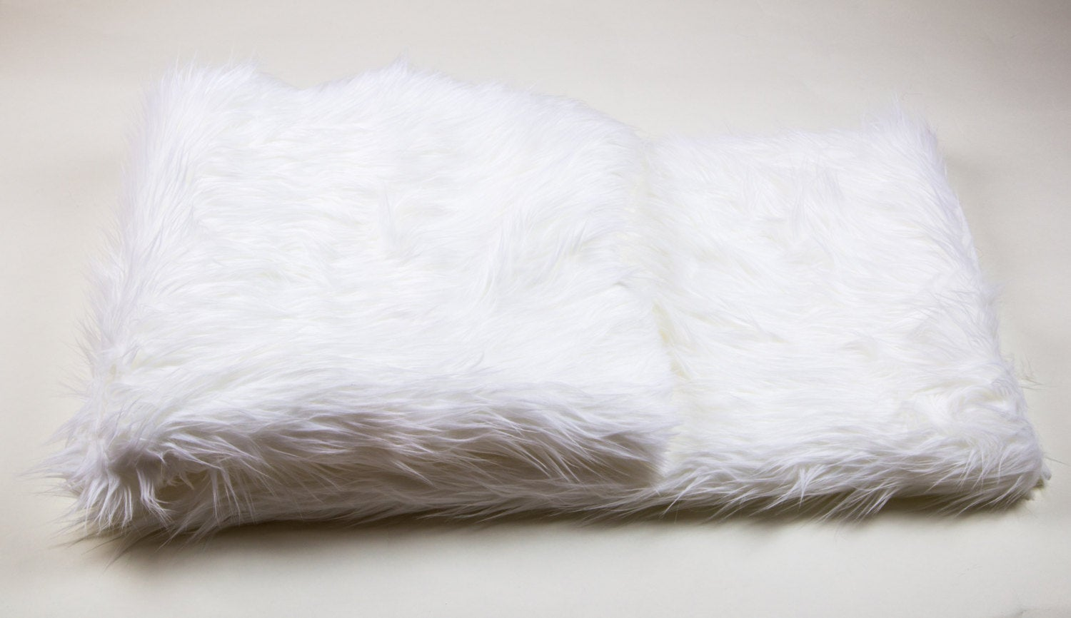 "White Shaggy Faux Fur Suede Back 96""x120"" XL King Throw Blanket 