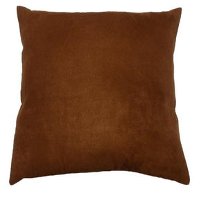 "26""x26"" Rust faux suede cushion pillow with hidden zipper pillows sofa bed couch chair throw home decor"