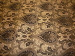 "Load image into Gallery viewer, Gold Brown Monte Cristo Damask Print Chenille 56"" Wide 