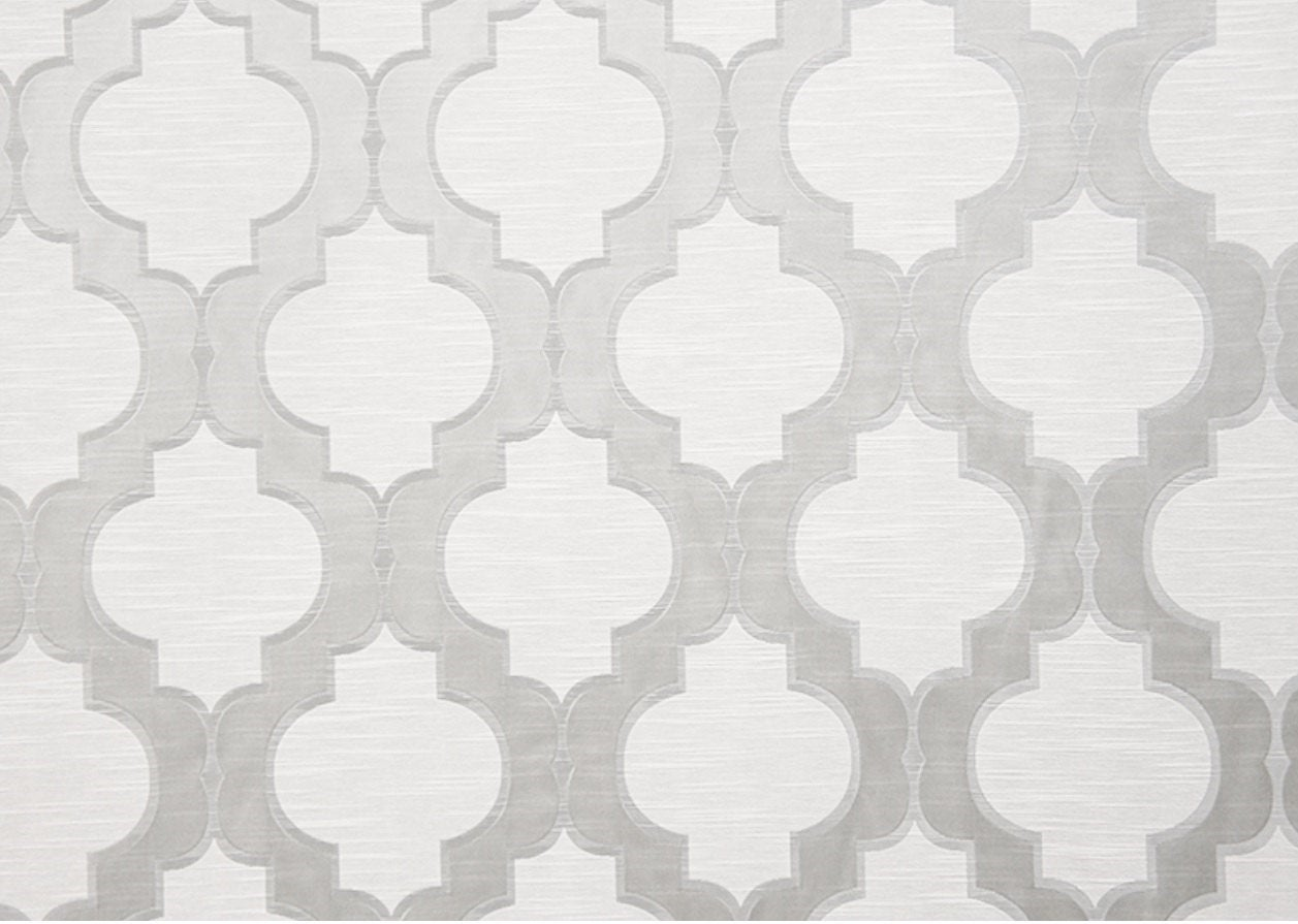 "Silver Santana Jacquard 55.5"" Wide 