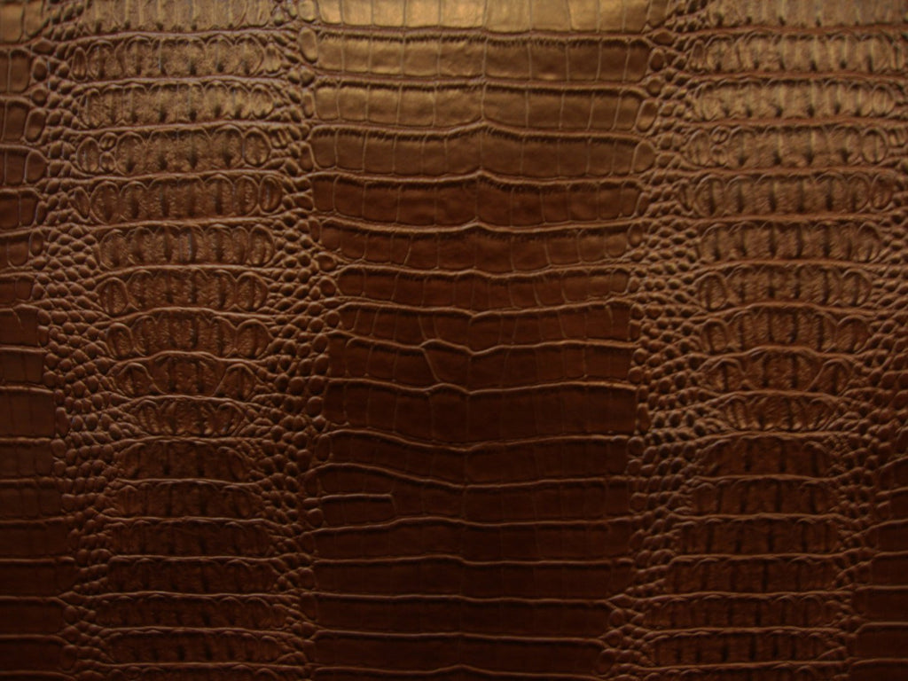 brown-nile-crocodile-embossed-faux-leather-vinyl-55-wide-upholstery-fabric-by-the-yard