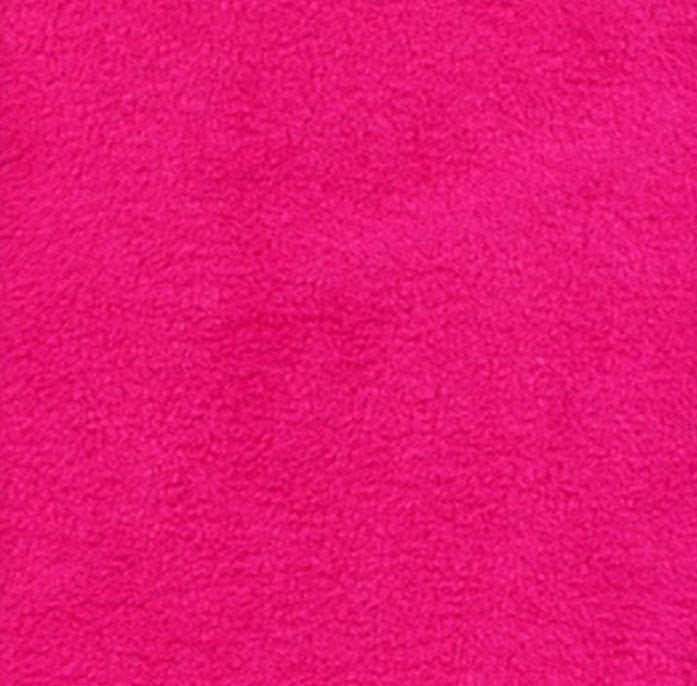 "Hot Pink Solid Polar Fleece Fabric 60"" Wide 