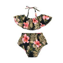 Hawaiian Floral Off the Shoulder Crop w/ Matching Shorts