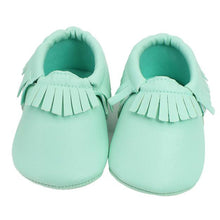 Tassels Baby Moccasin Newborn Baby Shoes Soft Bottom PU Leather Prewalkers 0-18M