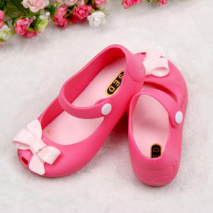 Jelly Bowknot fish Mouth Sandals