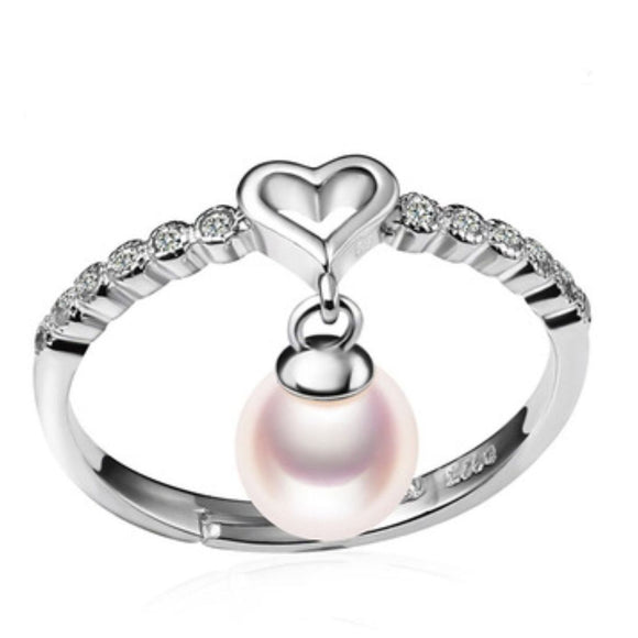 Sassy Heart Sterling Silver Adj. Ring sku # 309-R